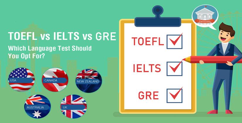 بررسی و مقایسه آزمون زبان: جی آر ای GRE تافل Toefl  آیلتس IELTS | آسان کارت