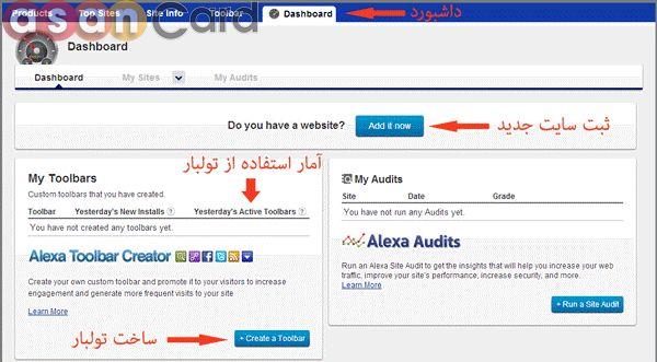 ثبت سایت در اکانت الکسا | آسان کارت