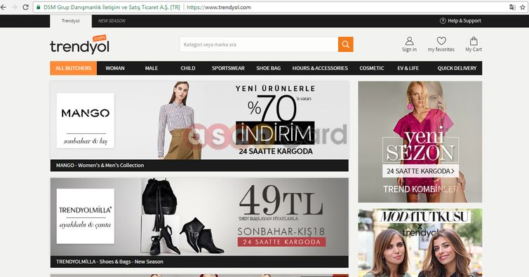 آموزش خرید از سایت ترندیول ترکیه | آسان کارت