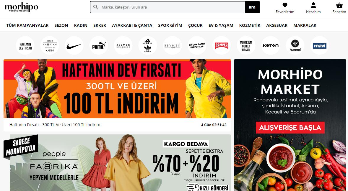 خرید پوشاک ترک از وبسایت مورهیپو Morhipo | آسان کارت