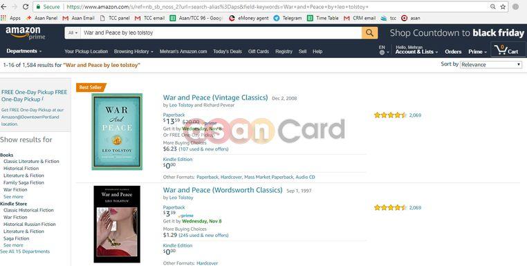 سفارش اینترنتی کتاب از Amazon | آسان کارت