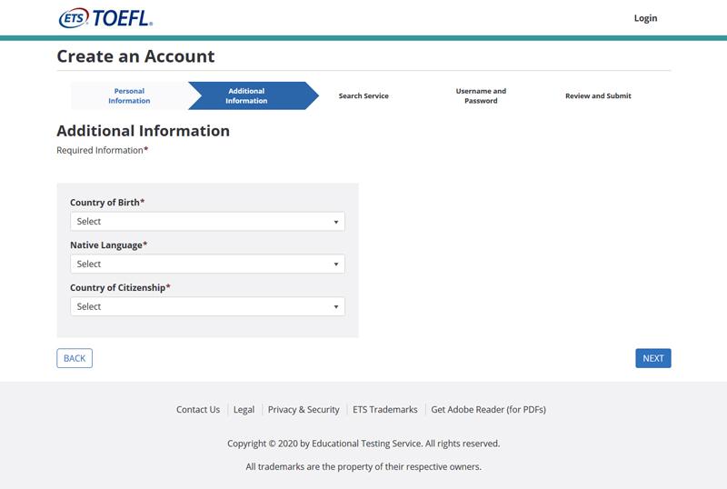 راهنمای تصویری ایجاد پروفایل تافل iBT | آسان کارت