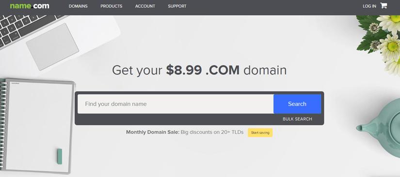 ثبت، خرید و انتقال دامنه با جستجوی آنلاین در Name.com | آسان کارت